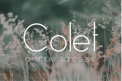 Colet | a simple sans-serif