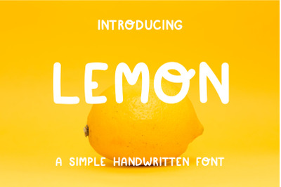 Simple playful font - Lemon