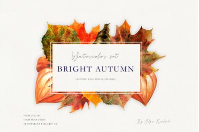 Bright Autumn Watercolor Set
