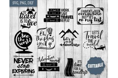 Travel SVG Bundle, Travel cut file quotes, Adventure SVGs