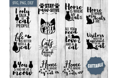 Cat lover SVG, Cat lady quote bundle, Cat cut files