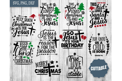 Christian cut files, Jesus Christmas SVGs, Jesus is the reason svgs