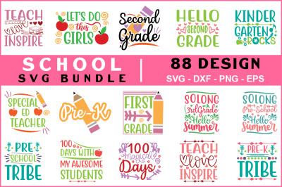 School Svg Mega Bundle, T shirt, SVG DXF PNG