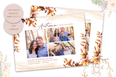 PSD Photography Mini Session Card Template #48