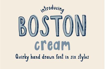 Boston Cream Font Family