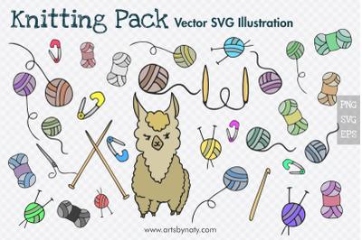 Knitting Cute Vector illustration pack.