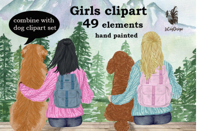 Girls clipart,BEST FRIEND CLIPART,Planner Girls Mug Designs