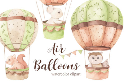 Air Balloons - Watercolor Set