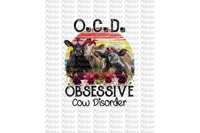 OCD Obsessive Cow Disorder Funny Farm Shirt Heifer Cow T-shirt - INSTA