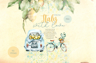 From Italy with love. Watercolor collection