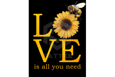 Love Is All You Nees Png, Sunflower Png, Bee Png, Hippie Png - INSTANT