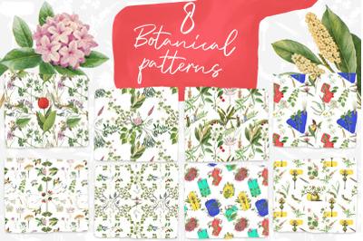 8 Vintage Botanical Patterns