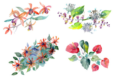 Barnaby flowers bouquet watercolor PNG