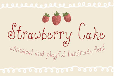 Strawberry Cake Whimsical Font