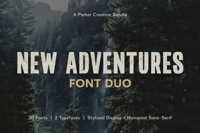 New Adventures | Font Duo