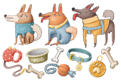 Doodle dogs collection