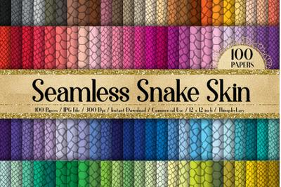 100 Seamless Snake Skin Animal Jungle Print Digital Papers