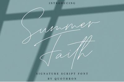 Summer Faith - script font