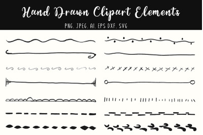 Hand Drawn Clipart Elements