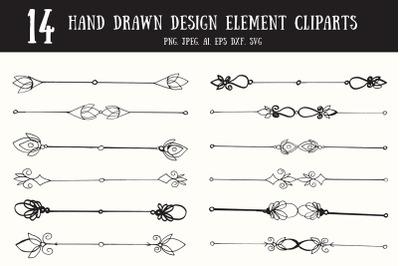10+ Decorative Text Dividers Handmade Clipart