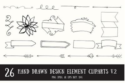 20+ Handmade Design Element Cliparts Ver. 2
