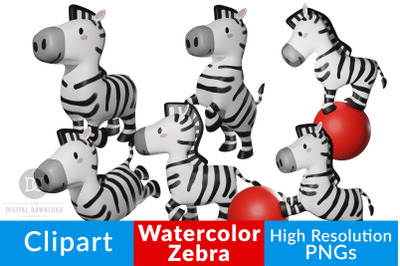 Zebra Clipart, Jungle Clipart, Safari Clipart, African Animal Clipart