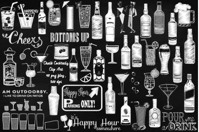 Chalk Cocktails Clip Art