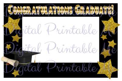 Photo Booth Frame Graduation Decoration Photo Booth Prop Black Gold Gr
