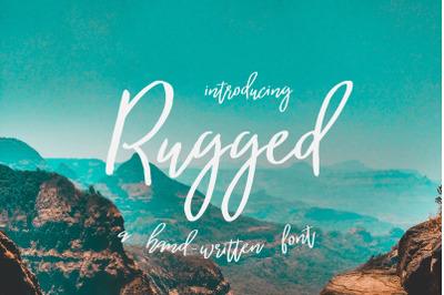 Rugged | a hand-written font