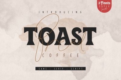 Toast Bread Coffee Typeface