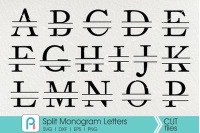 Split Letter Monogram Svg, Letter Monogram Svg, Serif Monogram Svg