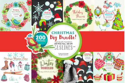 Big Christmas Clipart Bundle