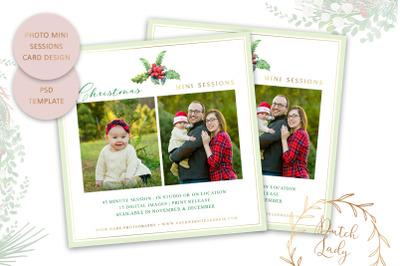 PSD Photo Mini Session Card Template - Christmas #49