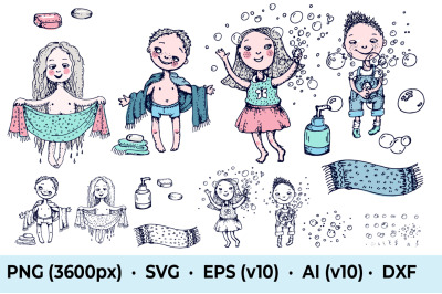 Kids Shower and Bubbles