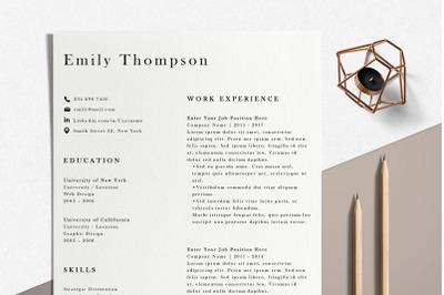 Resume Template | Photoshop CV Template - Emily