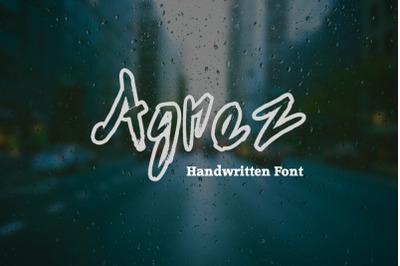Agnez - Handwritten Font