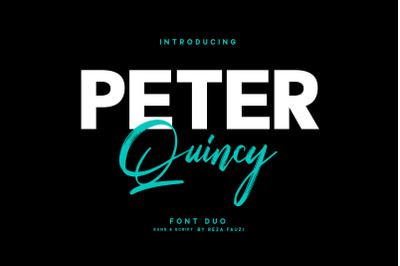 Peter Quincy - Font Duo