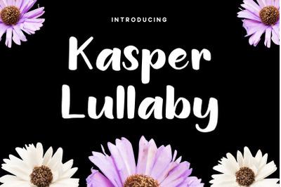 Kasper Lullaby - Handdrawn Font