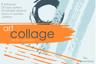 Art collage vector collection