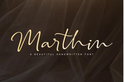 Marthin Script Font