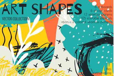 Art shapes vector collection