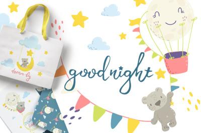 Good night. Cute bears collection.