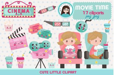 Movie time kawaii clipart