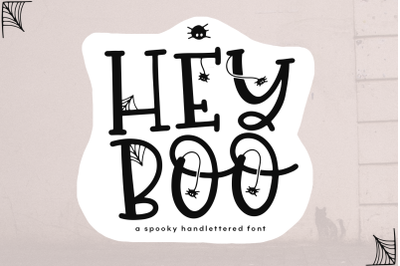 Hey Boo - A Quirky Halloween Font