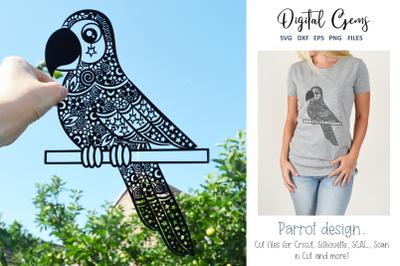 Parrot papercut design