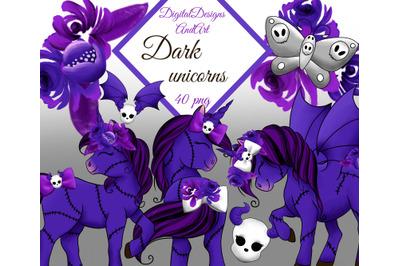 Dark unicorn clipart