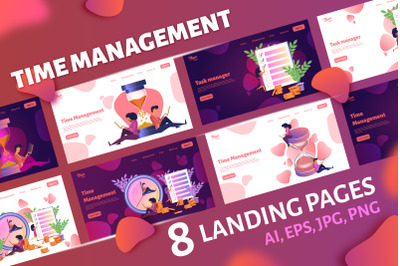 Time management landing pages