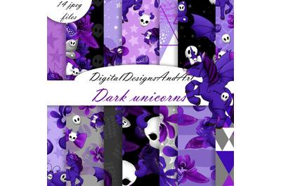 Dark unicorns pattern