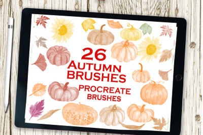 Procreate brush set, Watercolor Brushes, AUTUMN BRUSHES