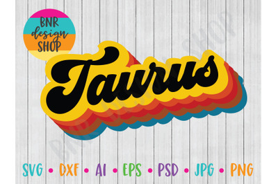 Taurus SVG, Horoscope SVG, SVG File, DXF File, Cut File